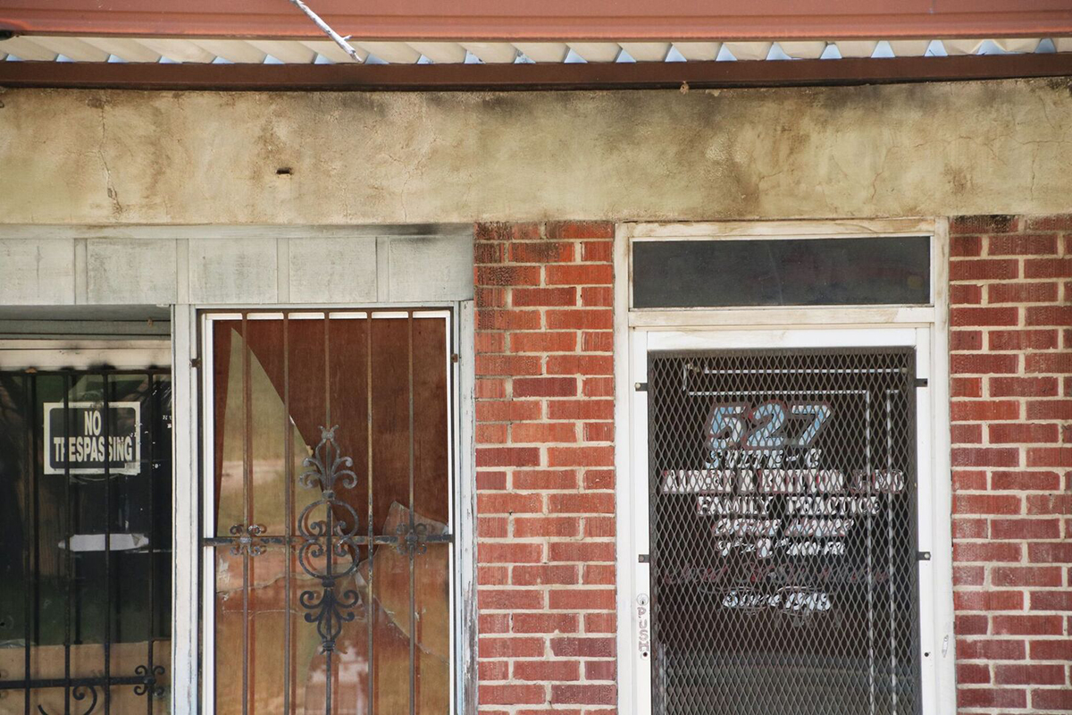 Jackson's historic black business district that has suffered from flight and decay in recent decades.